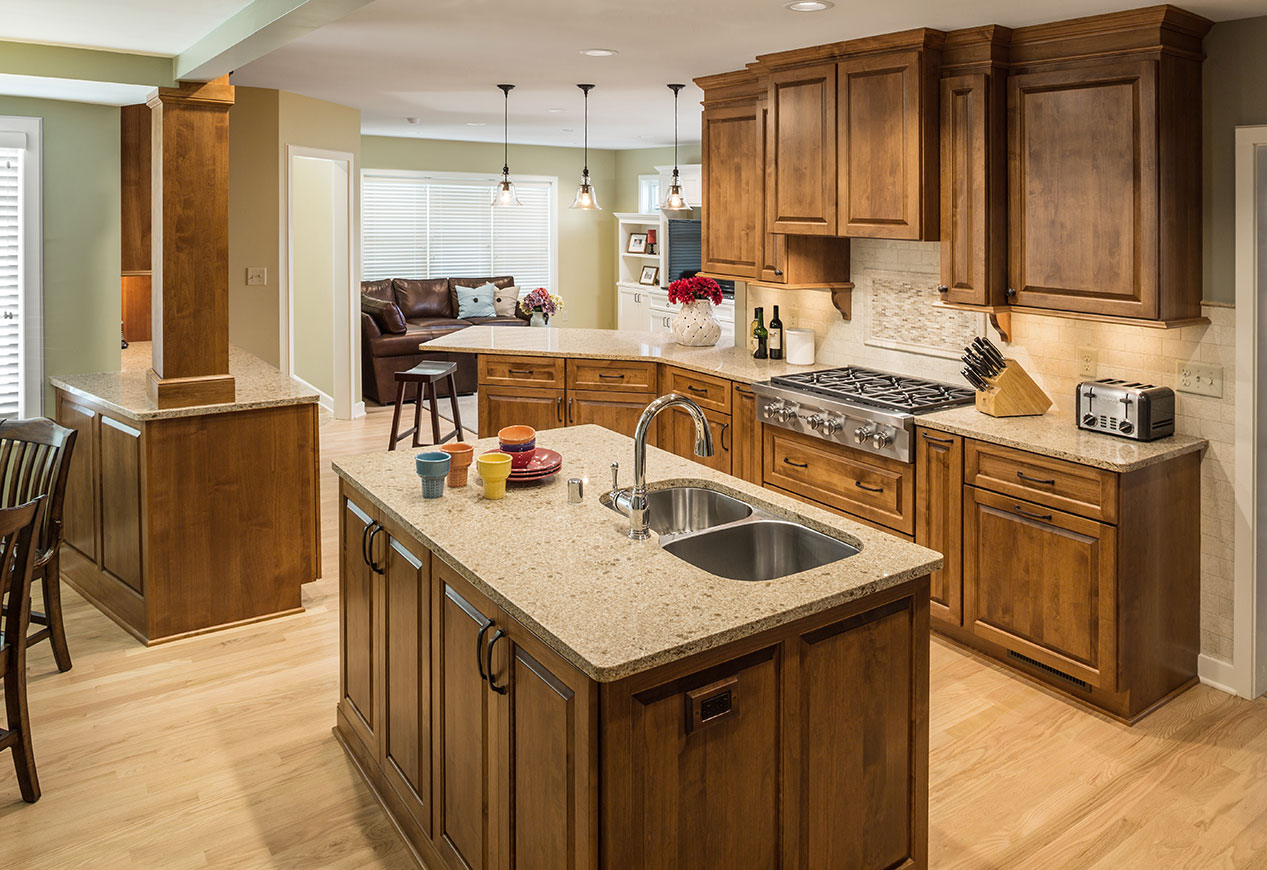 Wauwatosa Open Concept Kitchen Remodel With Island Wolf