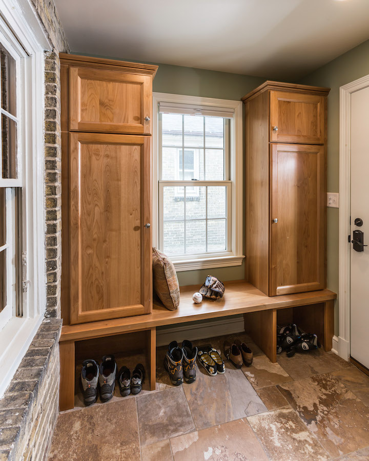 1930 39 s whitefish bay mudroom addition sj janis Adding bathroom to laundry room
